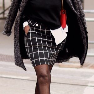 Loft Plaid skirt